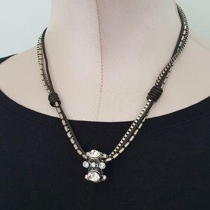 Jewelry - Modern rhinestone multi strand necklace